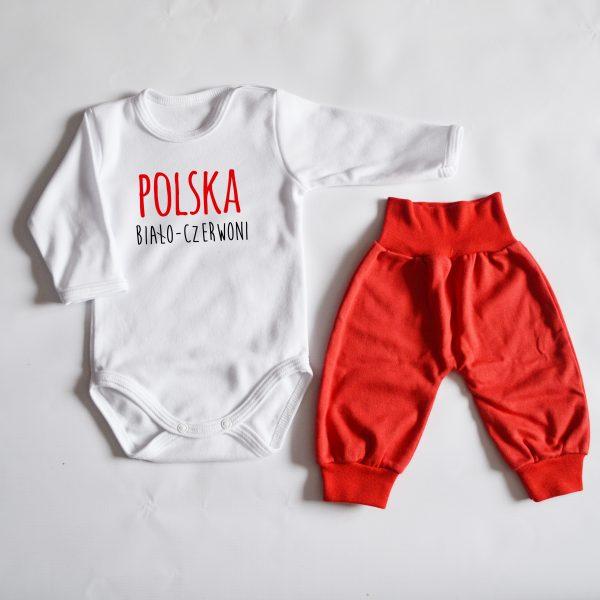 Body z napisem polska biało czerwoni
