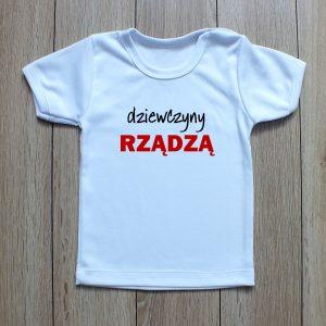 koszulka dziecięca z napisem dziewczyny rządzą