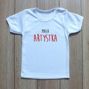 koszulka z napisem mała artystka