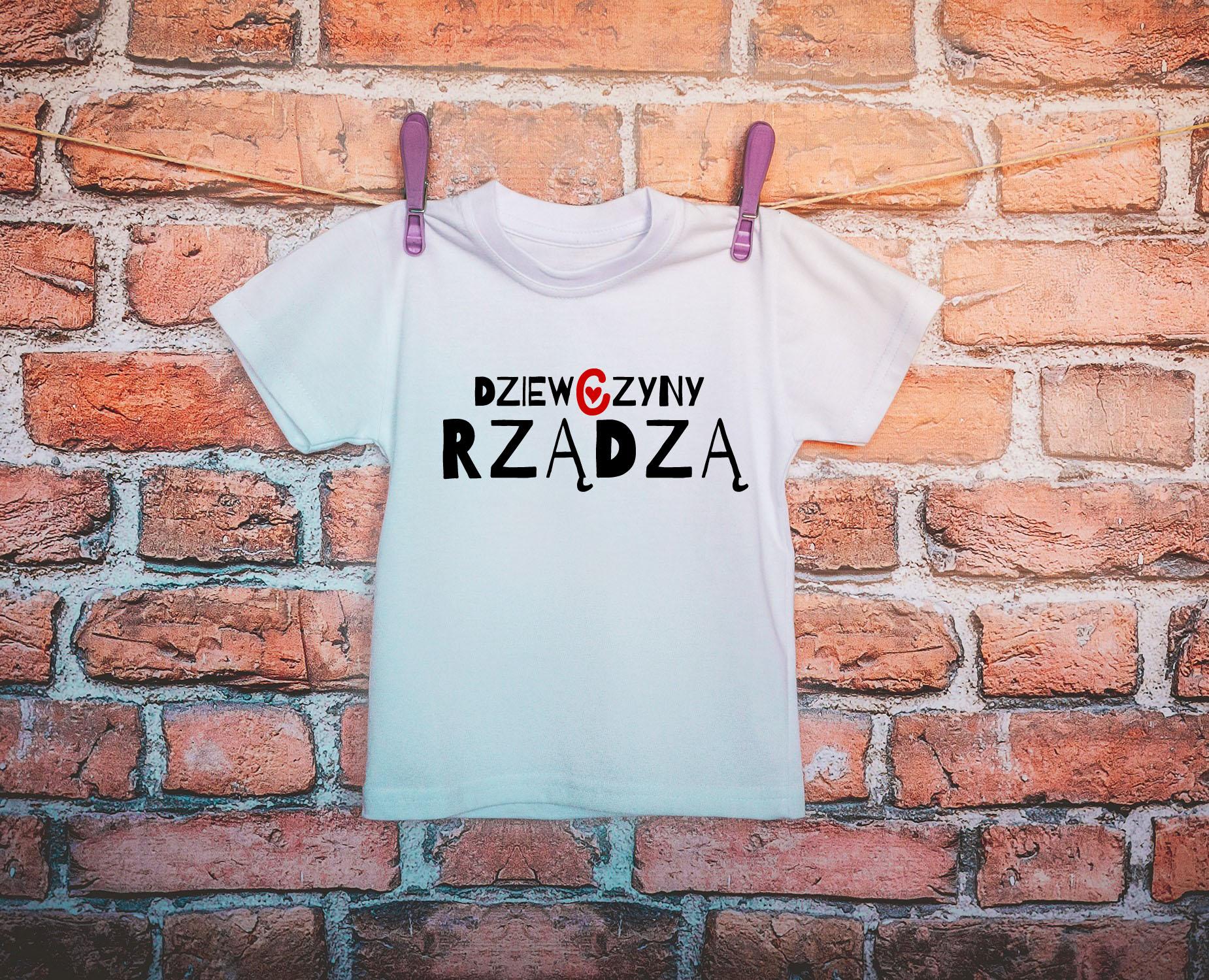 057cb3e662 Koszulka dziecięca dziewczyny rządzą