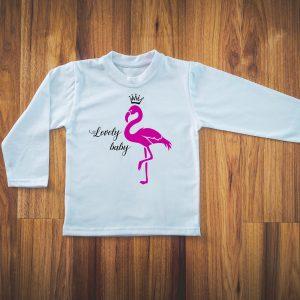 koszulka z flamingiem
