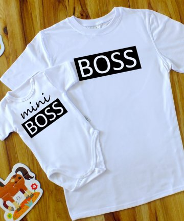ZESTAW ojciec syn BOSS + mini BOSS