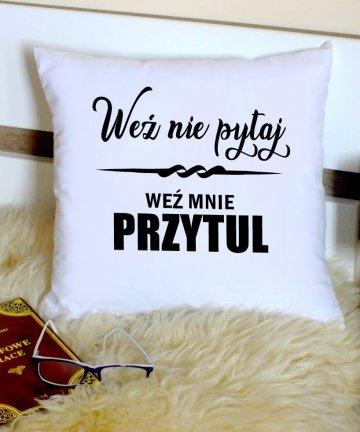 poduszka z napisami