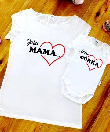 ZESTAW koszulek Jaka MAMA taka CÓRKA