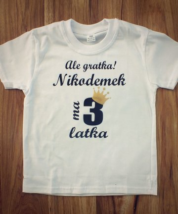 Koszulka Ale gratka ma już 3 latka