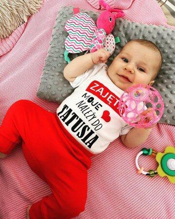 komplet walentynkowy dla niemowlaka