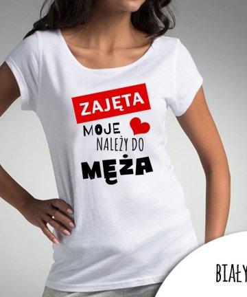 Koszulka ZAJĘTA moje serce należy do MĘŻA