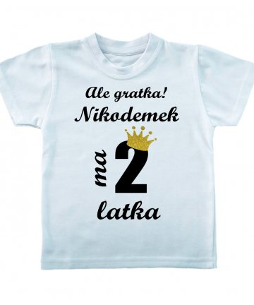 Koszulka na 2 urodziny z imieniem