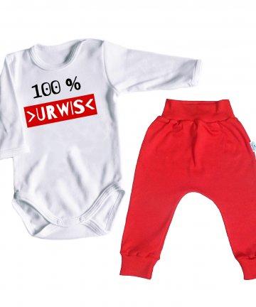 Komplet niemowlęcy BODY + SPODNIE - 100% urwis