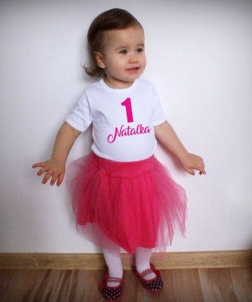 Komplet na 1 urodziny dla dziewczynki