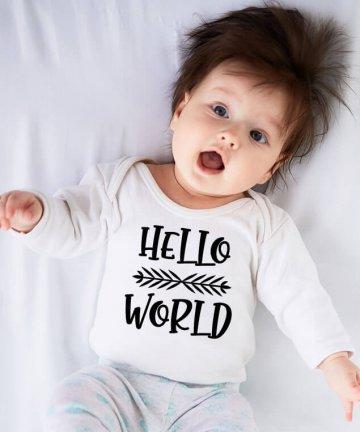 Body niemowlęce Hello World