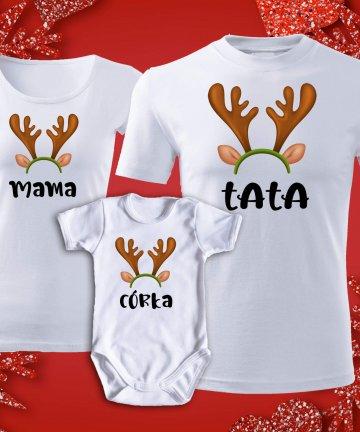 Zestaw świąteczny mama tata córka
