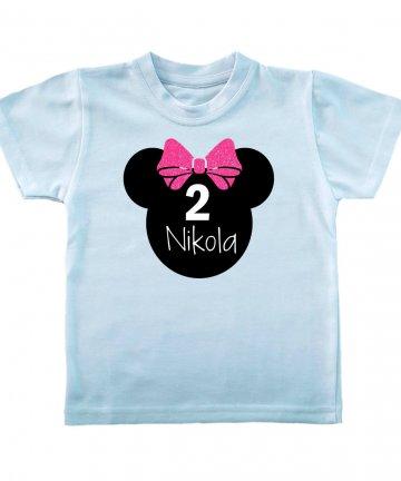 Koszulka na 2 urodziny dla dziewczynki z imieniem
