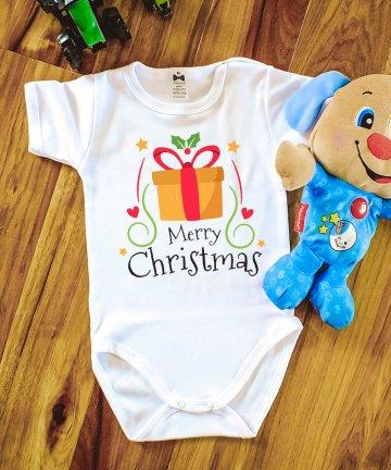 Body Merry Christmas z prezentem BOŻE NARODZENIE