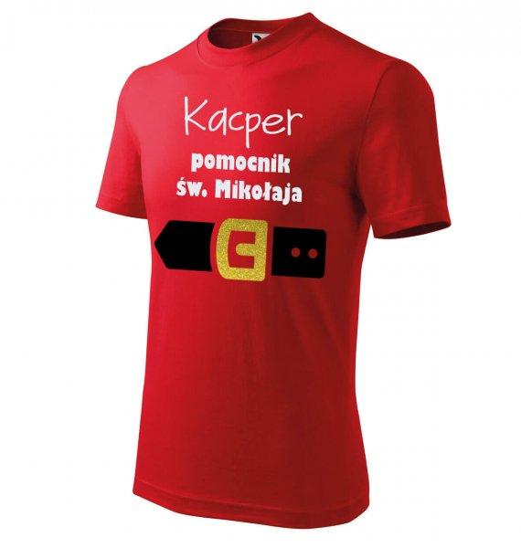 Koszulka dziecięca pomocnik św. Mikołaja