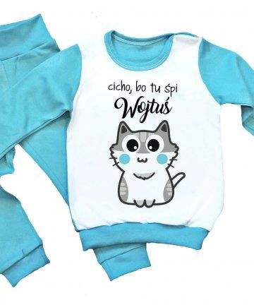 piżamka dziecięca z kotkiem