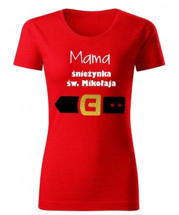 Koszulka MAMA śnieżynka św. Mikołaja