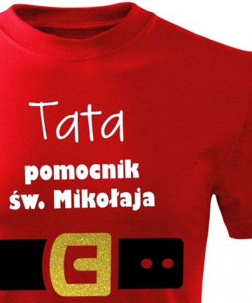 Koszulka TATA pomocnik św. Mikołaja to idealny prezent dla męża lub ojca dziecka na okazję świąt BOŻEGO NARODZENIA. Koszulki dostepne w rozmiarze S - 4 XL.