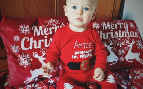 Ubranka niemowlęce na sesje świąteczne