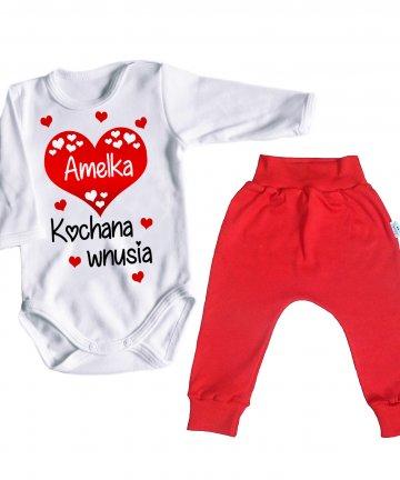 Białe body niemowlęce KOCHANA WNUSIA z imieniem