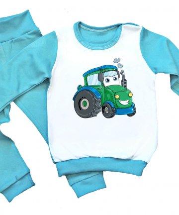 piżamka z traktorkiem