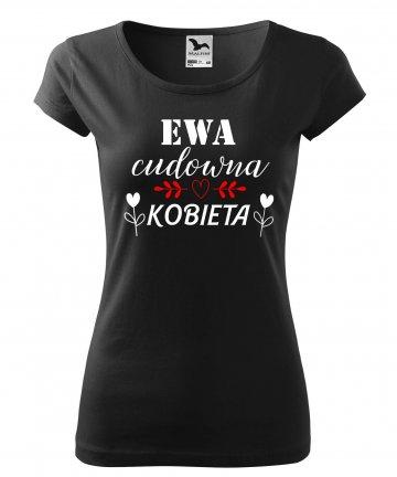 Koszulka CUDOWNA KOBIETA na dzień kobiet z imieniem