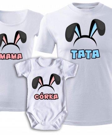 komplet koszulek na Wielkanoc