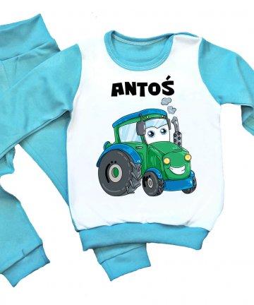 Piżamka dziecięca z traktorkiem oraz imieniem