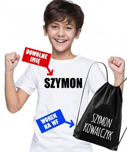 koszulka do szkoły z imieniem