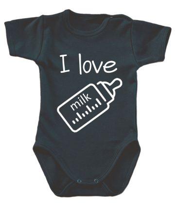 body niemowlęce i love milk